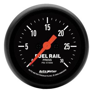 FUEL RAIL PRESSURE GAUGE,  30,000PSI - AUTOMETER - Z SERIES ('07.5-'18, 6.7L)