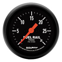 FUEL RAIL PRESSURE GAUGE,  30,000PSI - AUTOMETER - Z SERIES ('07.5-'18, 6.7L)