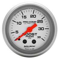 BOOST GAUGE,  35PSI - AUTOMETER - ULTRA-LITE SERIES