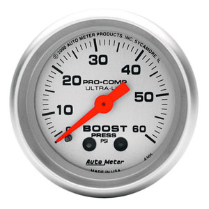 BOOST GAUGE, 60PSI - AUTOMETER - ULTRA-LITE SERIES