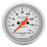 EXHAUST GAS TEMPERATURE GAUGE (0-1600 DEG) AUTOMETER - ULTRA-LITE SERIES