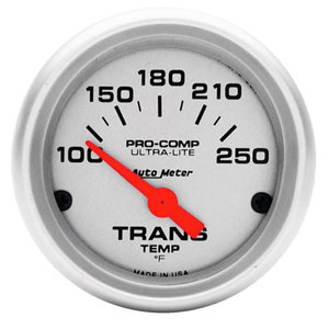 TRANS TEMPERATURE GAUGE (100-250 DEG - SHORT SWEEP) AUTO METER - ULTRA-LITE SERIES