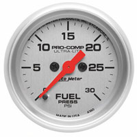 FUEL PRESSURE GAUGE,  30PSI (ELECTRIC) AUTOMETER - ULTRA-LITE SERIES
