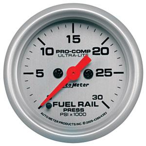 FUEL RAIL PRESSURE GAUGE,  30,000PSI  - AUTOMETER - ULTRA-LITE SERIES ('03-'07, 5.9L)
