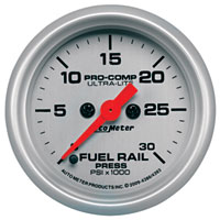 FUEL RAIL PRESSURE GAUGE,  30,000PSI  - AUTOMETER - ULTRA-LITE SERIES ('03-'07, 5.9L)