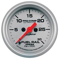 FUEL RAIL PRESSURE GAUGE,  30,000PSI - AUTOMETER - ULTRA-LITE SERIES ('07.5-'15, 6.7L)