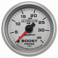 BOOST GAUGE,  35PSI - AUTOMETER - ULTRA-LITE II SERIES