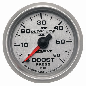 BOOST GAUGE,  60PSI - AUTOMETER - ULTRA-LITE II SERIES