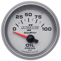 OIL PRESSURE GAUGE, 100PSI - AUTOMETER - ULTRA-LITE II SERIES