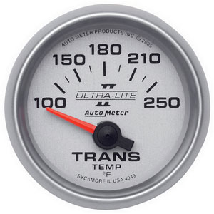 TRANS TEMPERATURE GAUGE, 100-250 DEG (SHORT SWEEP) AUTOMETER - ULTRA-LITE II SERIES