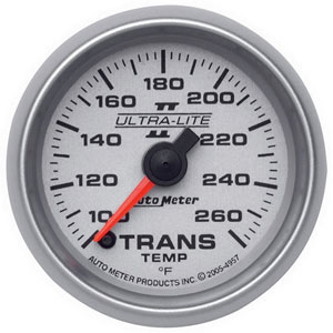 TRANS TEMPERATURE GAUGE, 100-260 DEG (FULL SWEEP) AUTOMETER - ULTRA-LITE II SERIES