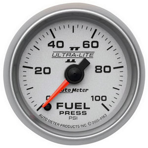FUEL PRESSURE GAUGE,  100PSI (ELECTRIC) AUTOMETER - ULTRA-LITE II SERIES