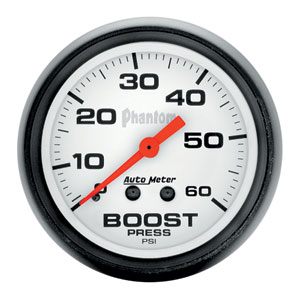 BOOST GAUGE,  60 PSI - AUTOMETER - PHANTOM SERIES