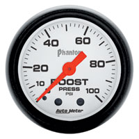 BOOST GAUGE, 100 PSI - AUTOMETER - PHANTOM SERIES