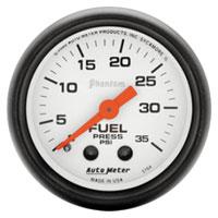 MECHANICAL FUEL PRESSURE GAUGE,  35PSI - AUTOMETER - PHANTOM SERIES