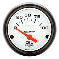 OIL PRESSURE GAUGE,  100PSI - AUTOMETER - PHANTOM SERIES