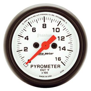 EXHAUST GAS TEMPERATURE GAUGE (0-1600 DEG) AUTOMETER - PHANTOM SERIES
