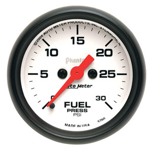 FUEL PRESSURE GAUGE,  30 PSI (ELECTRIC)  AUTOMETER - PHANTOM SERIES