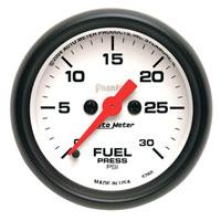FUEL PRESSURE GAUGE,  30 PSI (ELECTRIC)  AUTOMETER - PHANTOM SERIES