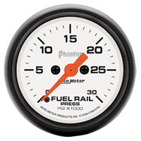 FUEL RAIL PRESSURE GAUGE,   30,000PSI - AUTOMETER - PHANTOM SERIES ('03-'07, 5.9L)