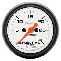 FUEL RAIL PRESSURE GAUGE,  30,000PSI - AUTOMETER - PHANTOM SERIES ('07.5-'18, 6.7L)