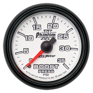 BOOST GAUGE, 35PSI - AUTOMETER - PHANTOM II SERIES