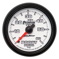 BOOST GUAGE, 60PSI - AUTOMETER - PHANTOM II SERIES