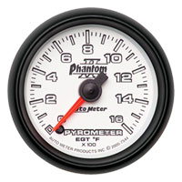 EXHAUST GAS TEMPERATURE GAUGE (0-1600 DEG) AUTOMETER - PHANTOM II SERIES