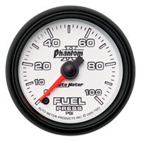 FUEL PRESSURE GAUGE, 100PSI (ELECTRIC)  AUTOMETER - PHANTOM II SERIES