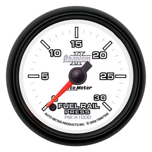 FUEL RAIL PRESSURE GAUGE,  30,000PSI -  AUTOMETER - PHANTOM II SERIES ('03-'07, 5.9L)