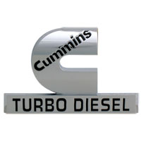 "EMBLEM - ""CUMMINS TURBO DIESEL"" ('06-'09, 2-3/4"" x 4-1/4"")"