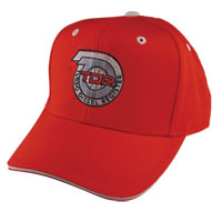 TDR High Profile Red Ball Cap