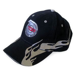 BALL CAP - TDR FLAME (BLACK/GREY FLAMES)
