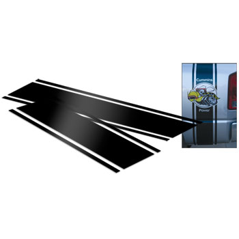 """DECAL - """"SUPER B"""" STRIPE EXTENSION KIT FOR DUALLY  (BLACK, 31.5"""")"""