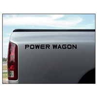"DECAL - ""POWER WAGON""  (19-3/4"" X 1-5/8"")"