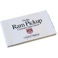 DODGE RAM OWNER'S MANUAL ('96, 2500/3500 - DIESEL)