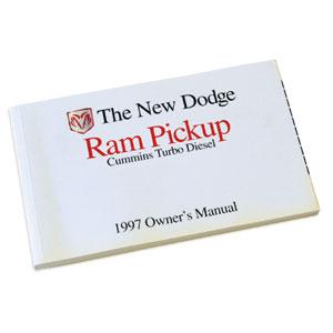 DODGE RAM OWNER'S MANUAL ('97, 2500/3500 - DIESEL)
