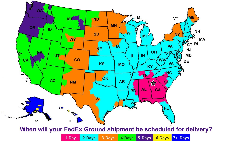 FedEX Map
