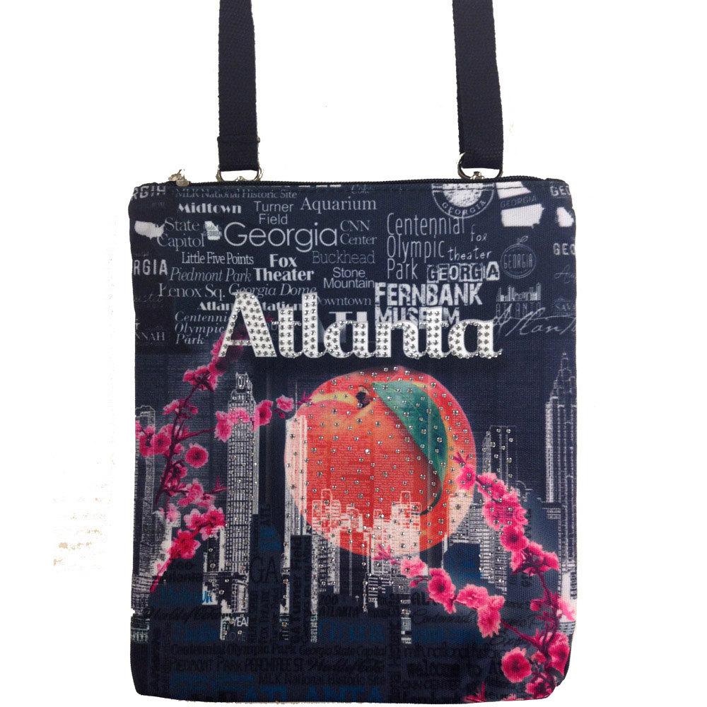 Atlanta Peach Drop Cross Body Bag