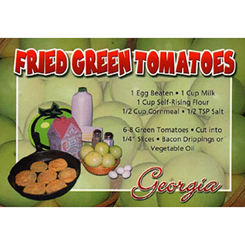 Fried Green Tomatoes Recipe Postcard