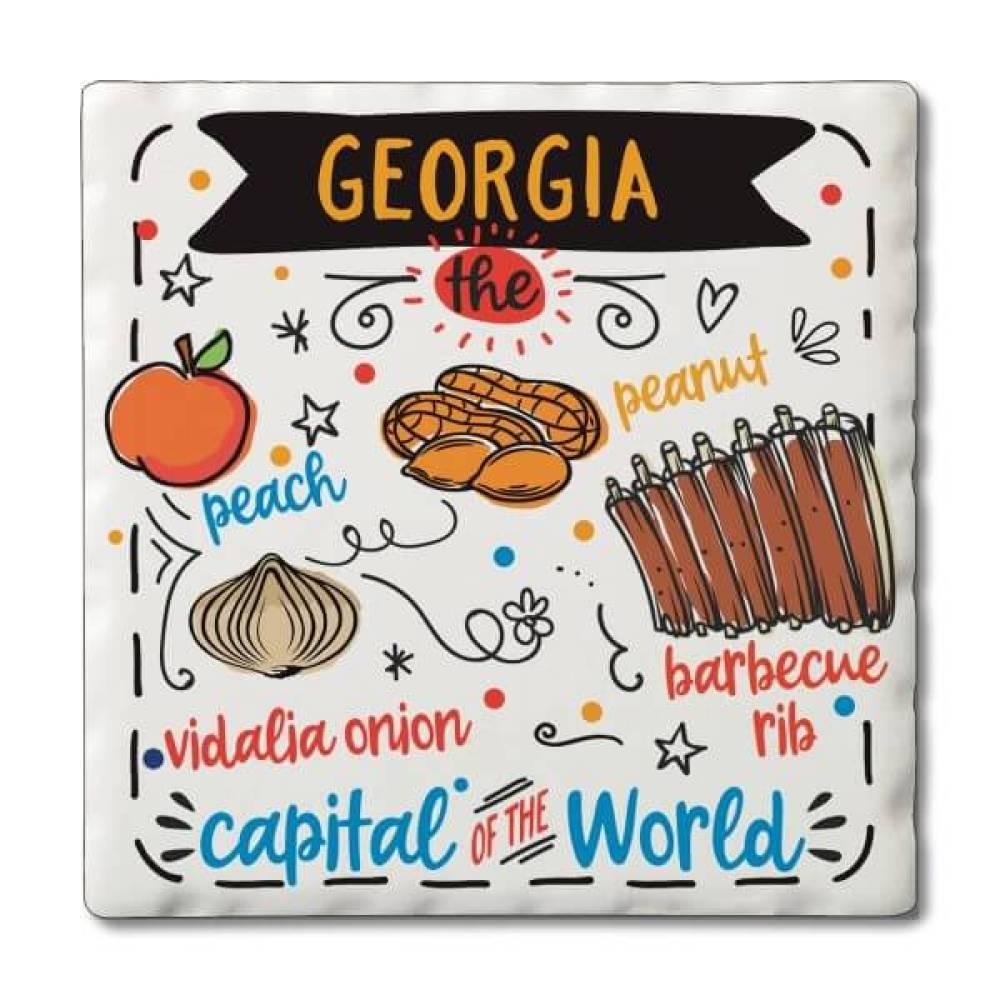 Georgia Famous Foods Coaster Set