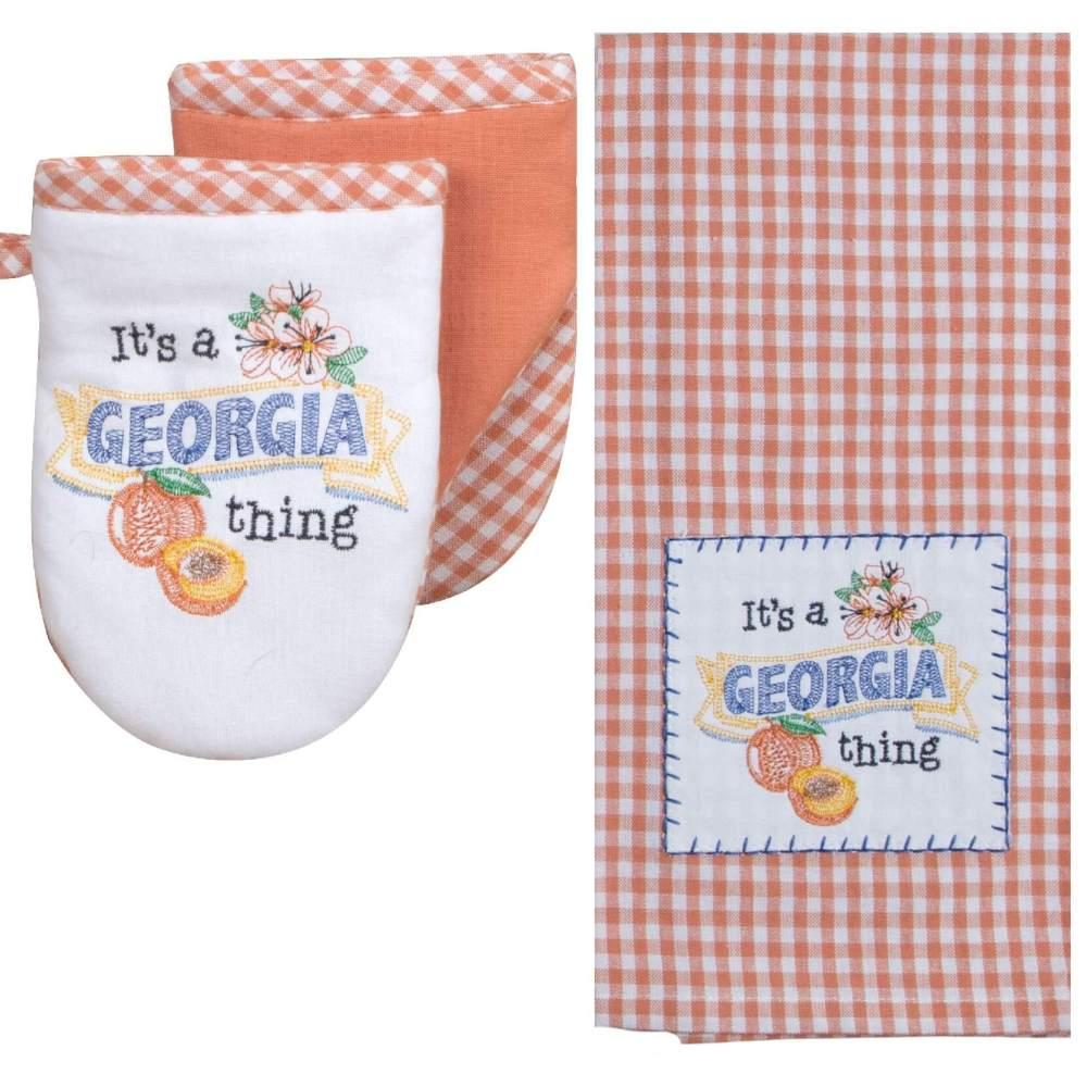 It's A Georgia Thing Towel & Mitt Set