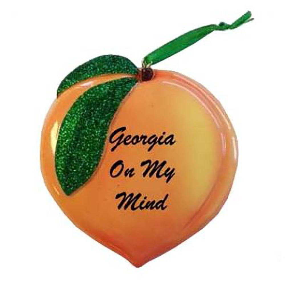 Georgia On My Mind Peach Ornament