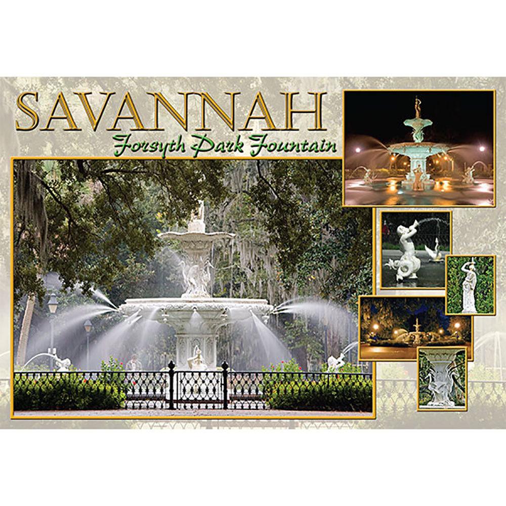 """Savannah Forsyth Park Fountain Postcard 5""""x7"""""""