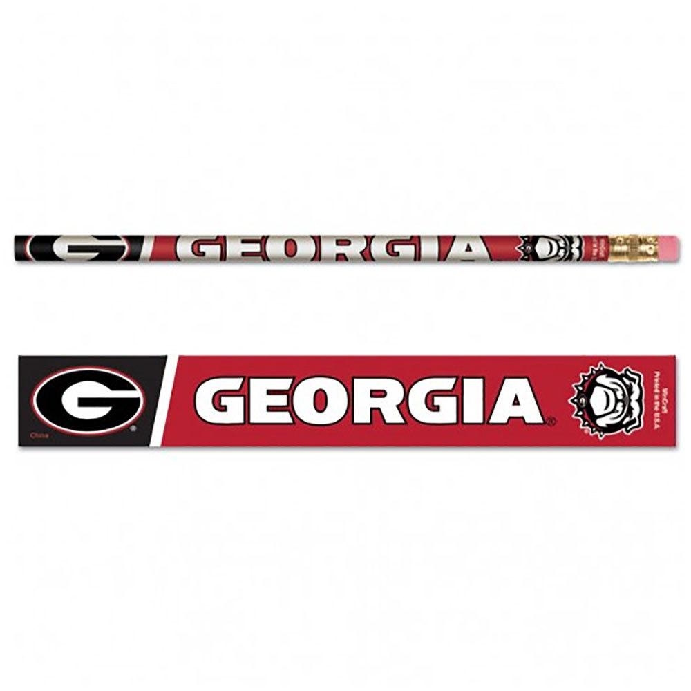 Georgia Bulldog Pencils (6 Pack)