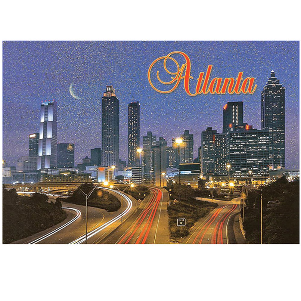 Atlanta at Night Post Card (Glitter)