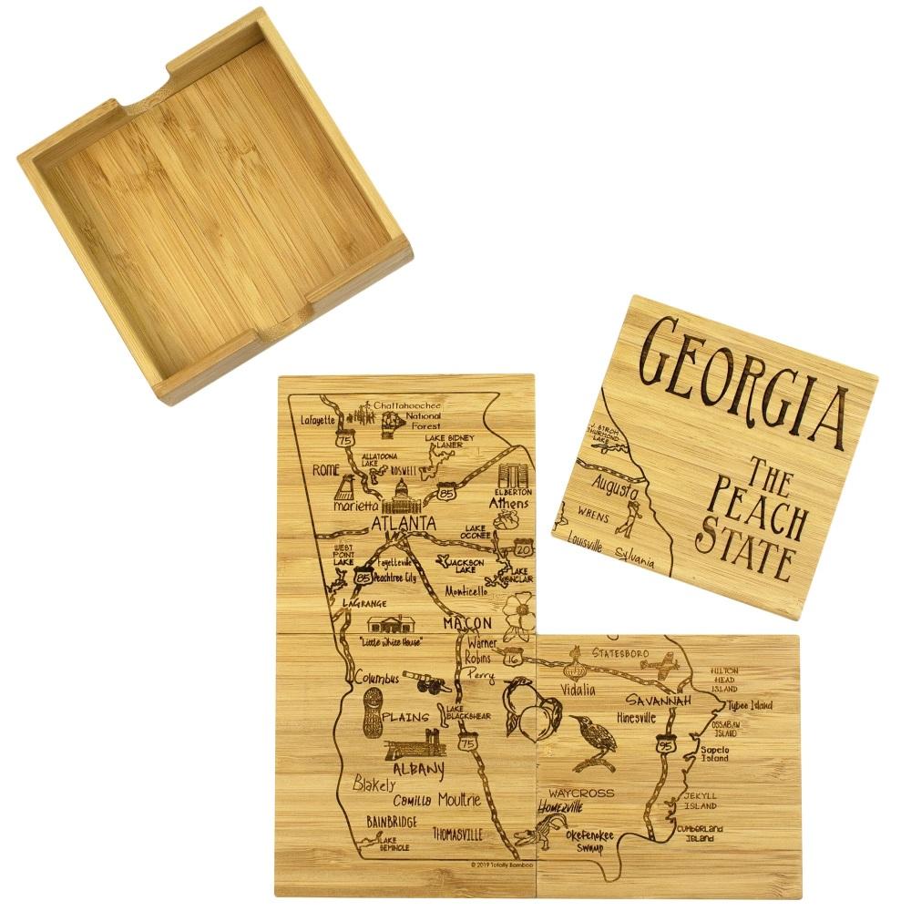 Georgia Puzzle Coaster Set