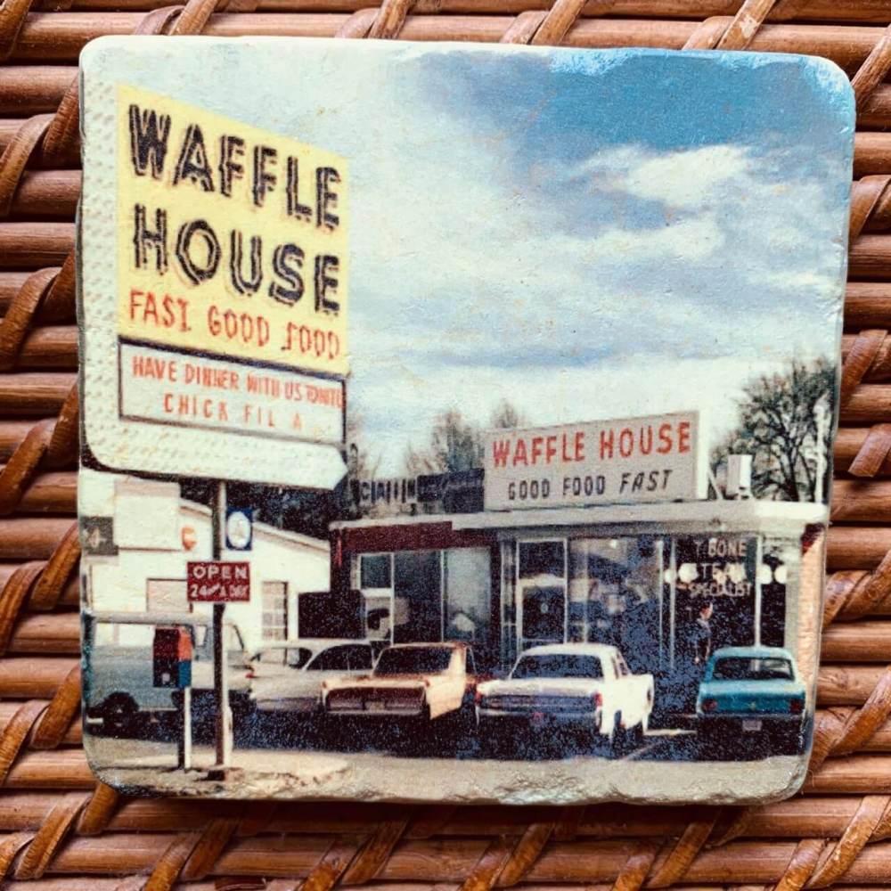 Original Waffle House Marble Coaster