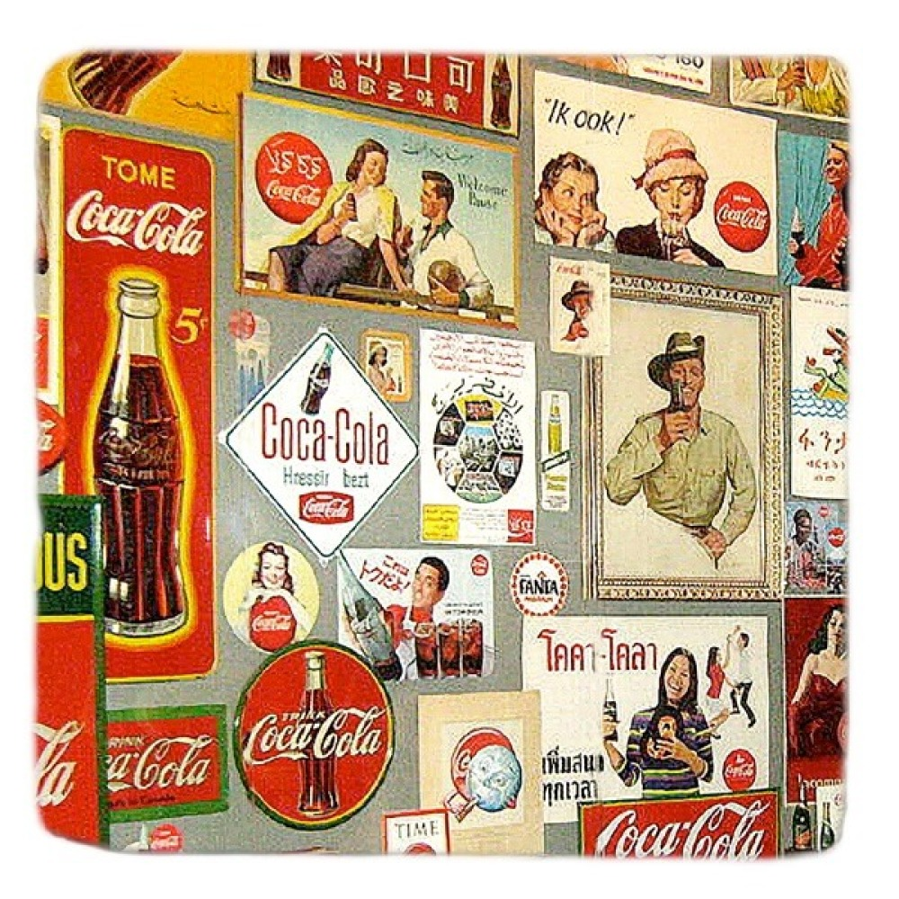 Coca Cola Retro Marble Coaster