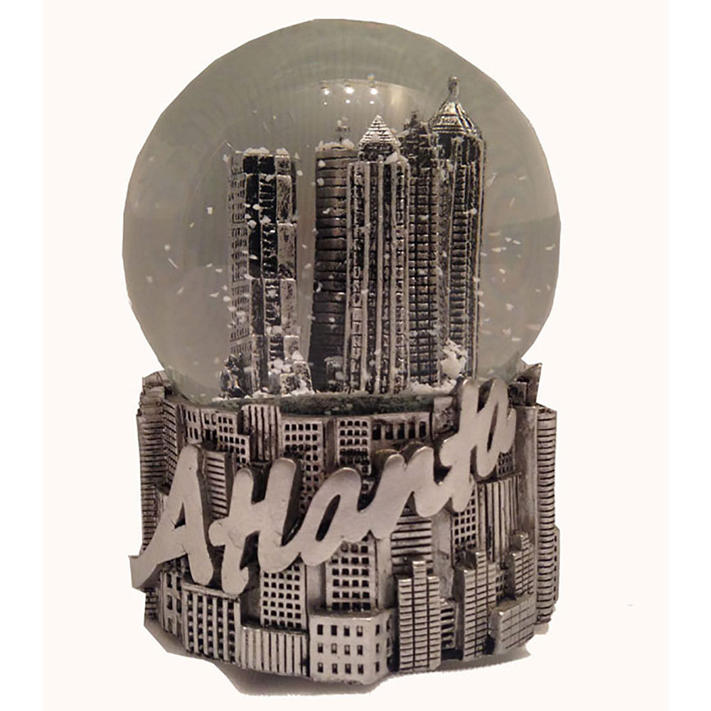 Atlanta Souvenir Silver Snow Globe